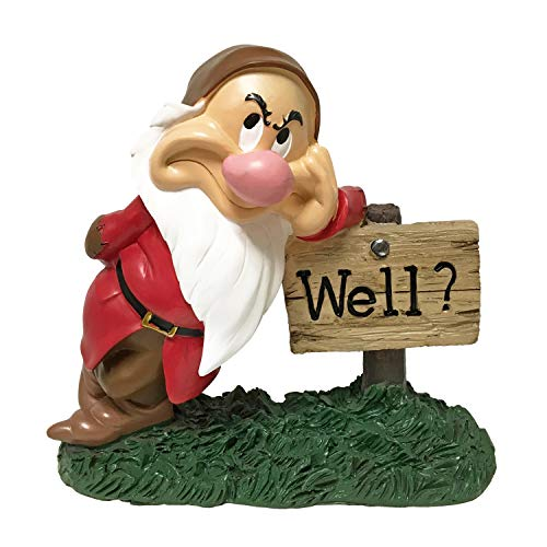 The Galway Company Grumpy Outdoor Statue, 8 Inches Tall, Classic Snow White & 7 Dwarfs Collections, Hand-Painted, Official Disney Licensed Product