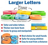 Roscoe Learning 120 Magnetic Letters - Premium Foam ABC Magnets in Storage Container with Handle