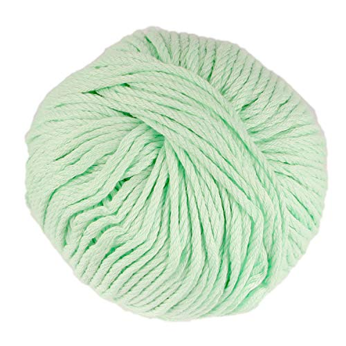JubileeYarn Bamboo Cotton Chunky Yarn - Green Mint - 2 Skeins