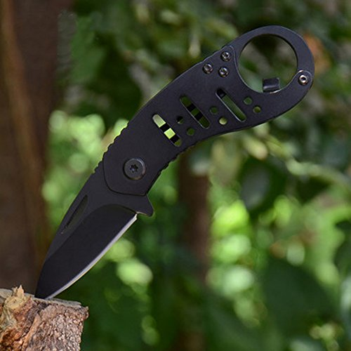 Promithi Utility Folding Pocket Knife Key Chain Knife with Bottle Opener Clip