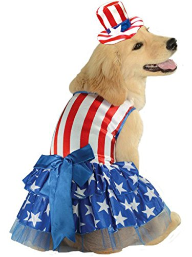 Rubie's 4th of July Pet Costume, Medium, Patriotic Pooch Girl -