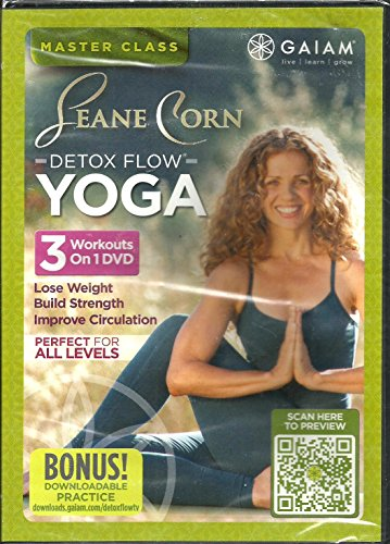 (Gaiam Seane Corn Detox Flow Yoga DVD 3 Workouts on 1 DVD - Lose Weight, Build Strength, Improve Circulation)