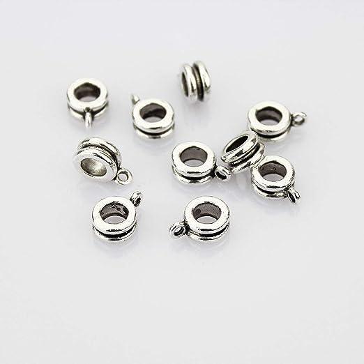 Genuine 925 Sterling Silver Charm Bracelet Hanger Bead Carrier Spacer Hole 4mm