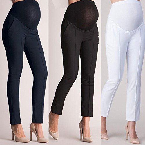 traspiranti con 3 leggeri sul maternità e cavallo basse Hibasing donna Pantaloni Nero da pantaloni tasche q81w08