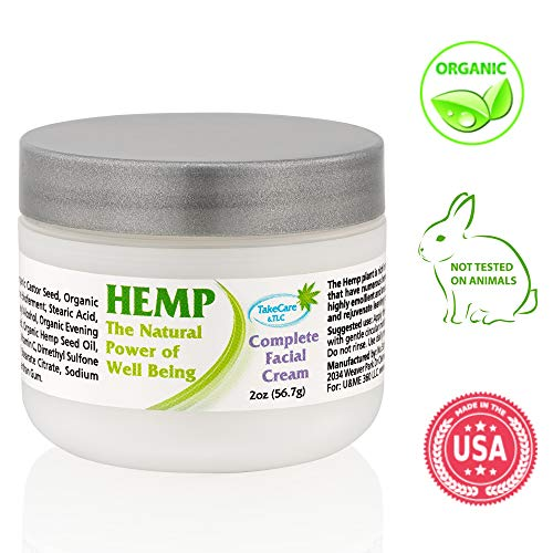 Natural Face Moisturizer Enriched with Organic Hemp Oil, Shea Butter, Vitamin C, E and more - Facial Cream for Women & Men - Daily Anti Wrinkle Anti Aging Skin Care for Sensitive, Dry and Oily