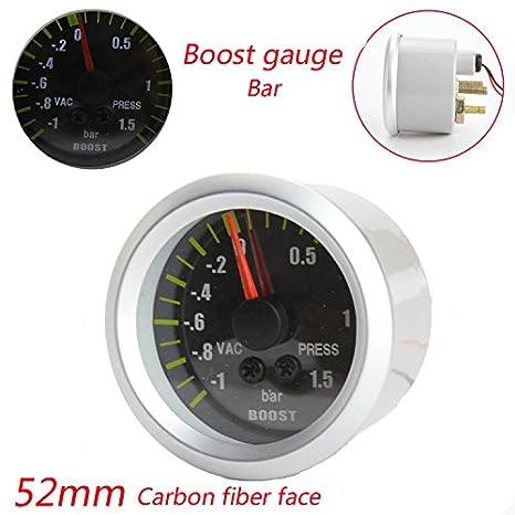 codinex (TM) Boost Gauge Bar con sensor Medidor de coche mecanismo de fibra de