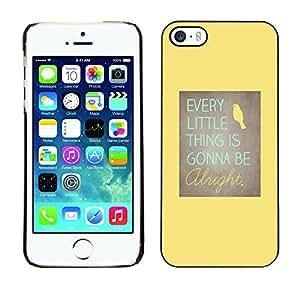 Paccase / SLIM PC / Aliminium Casa Carcasa Funda Case Cover para - Motivational Positive Yellow Bird - Apple Iphone 5 / 5S