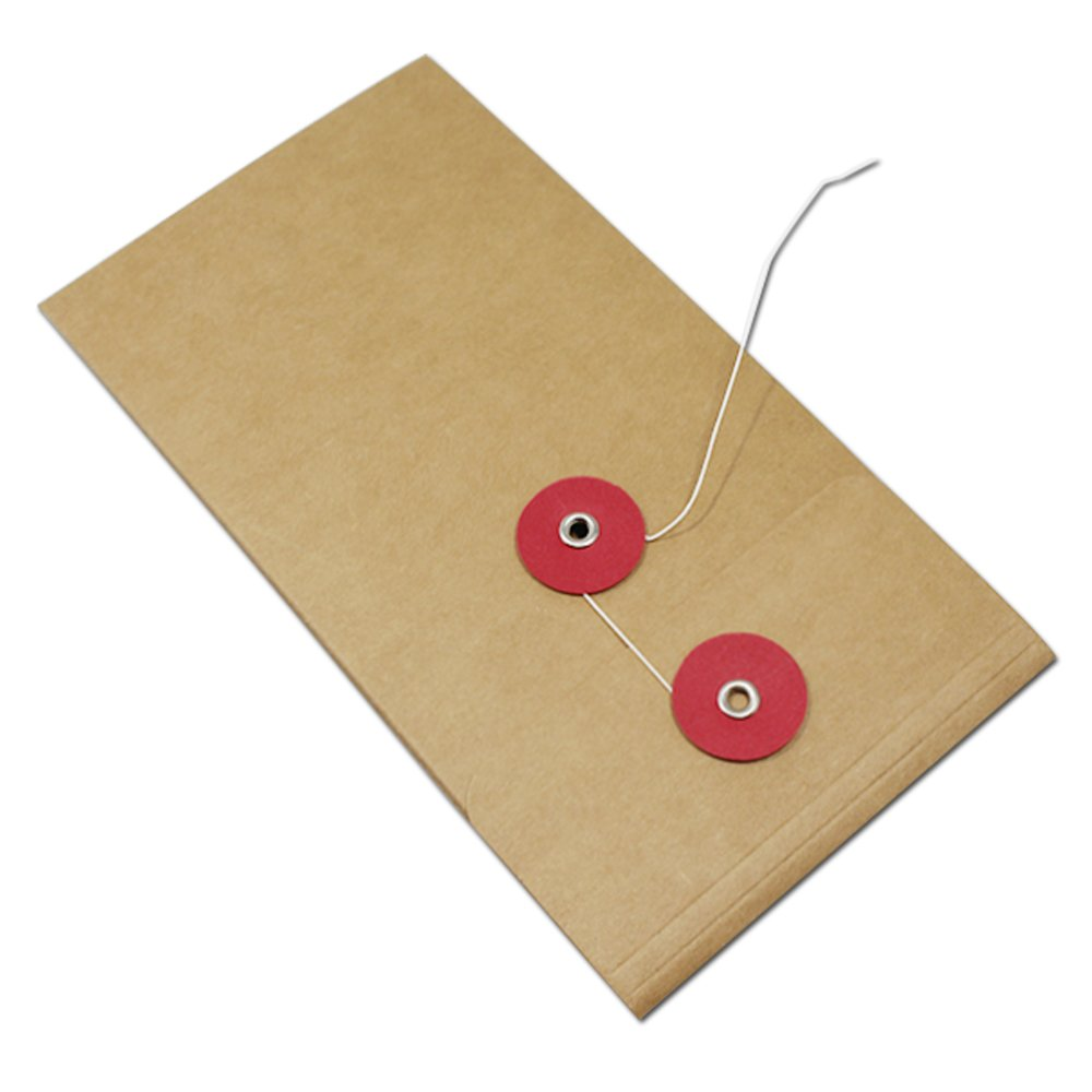 Kraft Paper Expanding File Jackets Document Pockets Contract Take Out Holder Case Cardboard Filing Folder Accessories Office Products Educational Supplies 10.5x21cm (4.1x8.3 inch) (90 Pcs, Red)