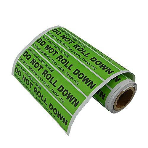 FOSHIO DO NOT ROLL DOWN  Sticker Windshield Stickers Warning Label Pro Auto Window Tinting Fitting Tint Tool 100pcs//roll