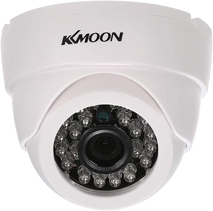 KKmoon Telecamere Analogiche 720P 1500TVL AHD Sorveglianza Telecamera Dome 1,0MP 3,6mm 1//4 Pollici CMOS 24 IR Lampade Visione Notturna IR-CUT Impermeabile Esterno CCTV Sicurezza Bianca