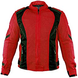 Xelement XS3062 Impulse Womens Black/Red Mesh Tri-Tex Armored Motorcycle Jacket - 4X-Large