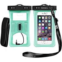 Floatable Waterproof Case, Vansky Waterproof Phone Case Dry Bag With Armband and Audio Jack for iPhone 8/8Plus, 7/7 Plus, Galaxy /Google Pixel/LG/HTC, Eco-Friendly TPU Construction IPX8 Certified