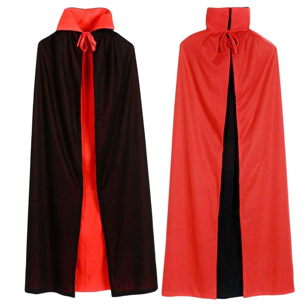 BESTOYARD Costume Mantello di Halloween Nero Rosso Costume Cosplay Teatro Prop Morte Mantello Stand Collar Vestiti per Feste 150CM 9IW22TYZKH3192IDKSISG9