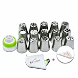 Russian Piping Tips, Wiwir 27PCS/SET Icing Piping Nozzles For Cupcakes ...