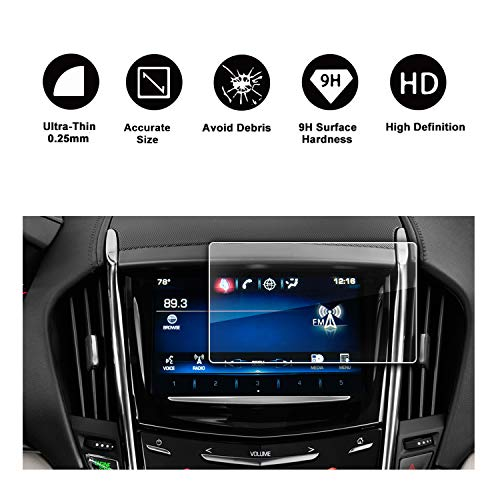 2013-2018 Cadillac ATS Cadillac SRX 8In CUE infotainment Interface Touchscreen Car Navigation Touch Screen Protector,Tempered Glass 9H Anti-Scratch and Shock Resistant by R RUIYA