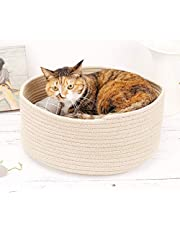 Cat Bed for Indoor Cats Self Warming Calming Bed Cat House for Small Cats Dogs Cat Mat with Ultra Soft Luxury Plush Including Refillable Catnip Pouch(Beige)