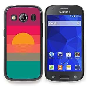 Eason Shop / Premium SLIM PC / Aliminium Casa Carcasa Funda Case Bandera Cover - Sol Azul Verde Violeta - For Samsung Galaxy Ace Style LTE/ G357