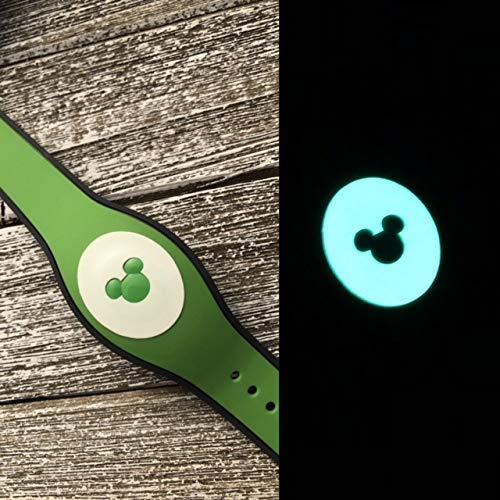 Vinyl Skin Decal Wrap Sticker Cover for The MagicBand 2 | Magic Band 2.0 Glow In The Dark Mouse Head Cut -