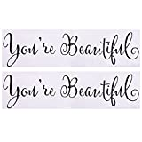 your beautiful wall decal - eBoot Mirror Decal Wall Sticker Vinyl Decoration You're Beautiful Stickers, 2 Pack
