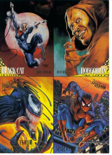 (1995 Fleer Ultra Spider-Man Premiere Edition Trading Cards Promo One-Sheet)