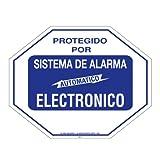 Security Sign #102S Spanish 1 Commercial Grade Burglar ALARM System Deterrence Warning! Sign #102S Spanish