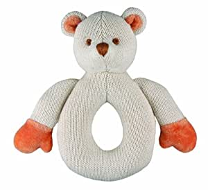 Miyim Simply Organic Kint Rattle Teether, Bear, 0-3 Months (Discontinued by Manufacturer)