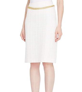 059319c1e0 Tahari by ASL Women's Petite Boucle Pencil Skirt White Ivory 12P at Amazon  Women's Clothing store:
