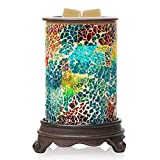 Bobolyn Handcrafted Mosaic Electric Wax Melt Warmer Candle Waxing Warmer Burner Melt Wax Cube Melter Fragrance Warmer- Ideal Gift for Wedding, Spa and Aromatherapy. (Polychromatic(Blue))