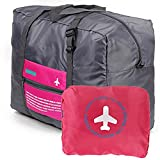 Arpiel - Travel Foldable Duffel Bag - Large Capacity Lightweight Bag - for Men and Women - Storage Bag for Clothes, Electronics, Cosmetics, Jewelry, Accessories, Souvenirs (Pink)