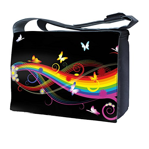 Ektor - Bolso al hombro para mujer Butterflies & Rainbows