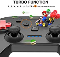 Controlador de Interruptor inalámbrico Gyro Axis Dual Vibration Turbo Functions Switch Pro Controller: Amazon.es: Electrónica