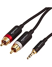 AmazonBasics 3.5mm to 2-Male RCA Adapter Audio Stereo Cable - 15 Feet