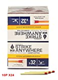 UCO Strike Anywhere, 320 Matches x 24 Boxes, Pack of 10