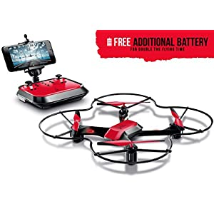 Fuse X22 Live-View WiFi FPV Drone | Auto Hover | Auto Take-Off | Auto Land | 360 Degree Flips | Headless Mode | Easy To Fly | Crash Resistant + Two Batteries Double Flight Time + Extra set Propellers