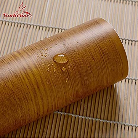 Wood Grain Home Decor Furniture Vinyl Wrap Waterproof Wall Sticker Self Adhesive