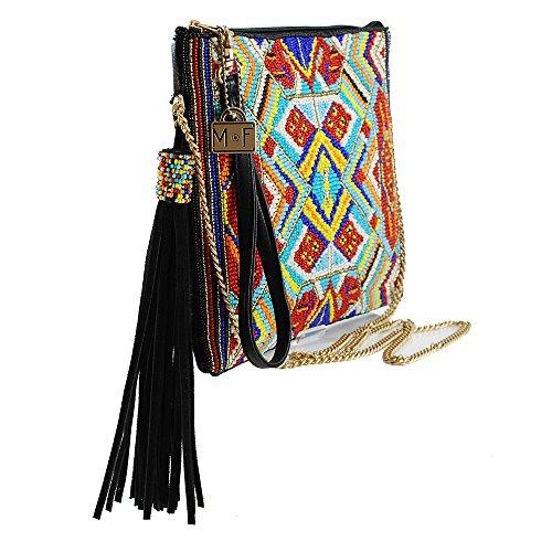 MARY FRANCES Mixed Message Beaded Leather Crossbody Zip Top Handbag by Mary Frances (Image #4)