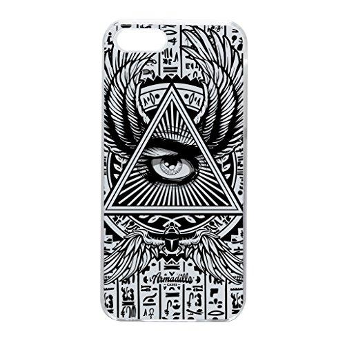 Illuminati schwarze Hülle zum Einrasten aus hartem Kunststoff Schutzhülle Rückseite für iPhone 5 vom Gangtoyz + wird mit KOSTENLOSER klarer Displayschutzfolie geliefert