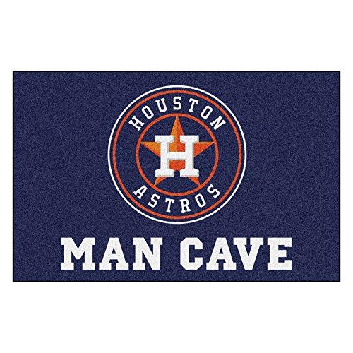 Houston Mat Astros Baseball Rug (MLB Houston Astros Man Cave Starter Rectangular Mat Area Rug)