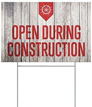 18x12 Nostalgia Burst Double-Sided Weather-Resistant Yard Sign 5-Pack CGSignLab Open 24//7