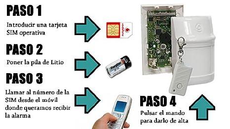Alarma a pilas con transmision de SMS y llamada a teléfono móvil
