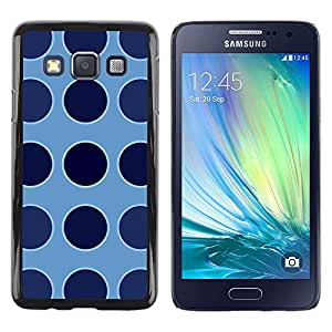 FECELL CITY // Duro Aluminio Pegatina PC Caso decorativo Funda Carcasa de Protección para Samsung Galaxy A3 SM-A300 // Dot Blue Pattern Uniform