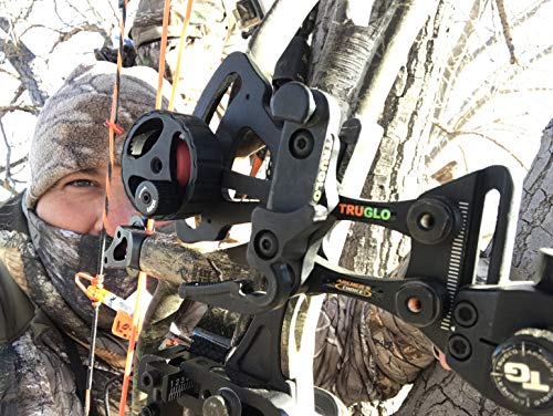 TRUGLO RANGE-ROVER Series Single-Pin Moving Bow Sight, Black, Left-Handed, .019'' Pin, Toolless Micro-Adjustable Windage by TRUGLO (Image #5)