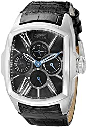 Invicta Men's 18898 Lupah Stainless Steel Watch with Black Leather Band