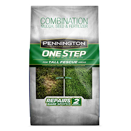 Pennington 100522284 One Step Complete Bare Spot Repair Grass Seed Mix For For Tall Fescue Areas, 6.25 ()