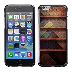 Planetar® ( Rustic Dark Pastel Colors Pattern ) Apple (5.5 inches!!!) iPhone 6+ Plus / 6S+ Plus Fundas Cover Cubre Hard Case Cover