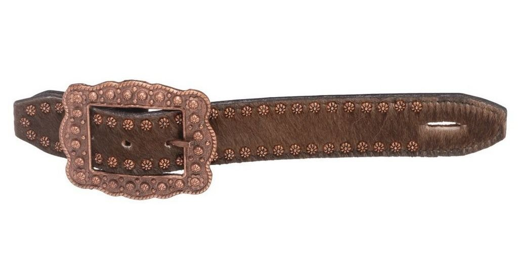 Brown One Size Brown One Size Tough 1 Spurs Hair On Antique Copper Studs Buckle Belt Style 78-0111