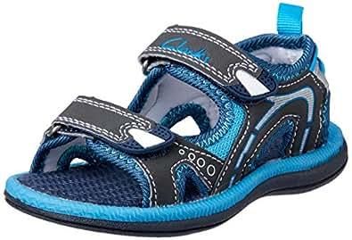 Clarks Boys' Fear II Fashion Sandals, Navy/Blue, 22 1/2 EU (6 AU)