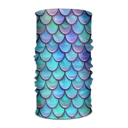 Price comparison product image Shower Curtain pillow Unisex Cartoon Mermaid Fish Scales Color Multifunctional Bandanas Sweatband Elastic Turban Headwear Headscarf Beanie Kerchief