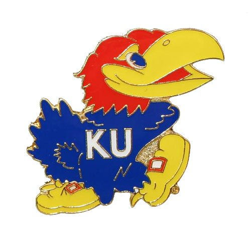 Kansas Jayhawks Lapel Pins (NCAA Kansas Jayhawks Logo Pin)