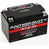 Antigravity ATZ-10-RS Lithium Ion Battery with BMS and Re-Start Technology - 360cca 2.3 Pounds 10Ah Lightweight Motorcycle Battery - Replaces YTZ10S - YTZ12 - YTZ14 - YTX9 - YTX7A-BS - YT12A-BS - MADE